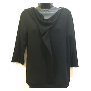 Ann Taylor drape front zip back blouse size Small